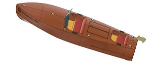 3D printed RC boat LUSIA 1952